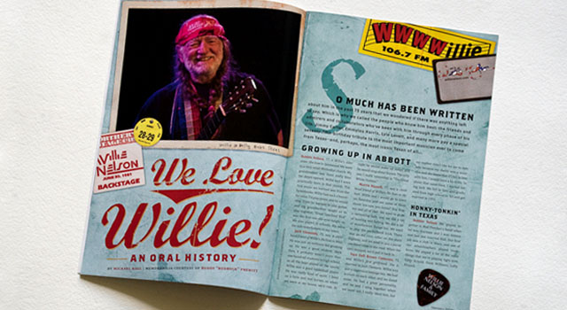 We Love Willie Texas Bound magazine spread