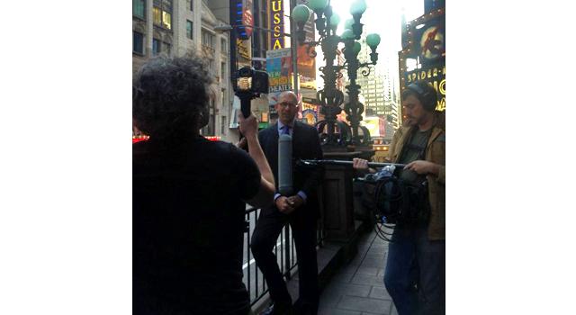 Jason Neulander giving an interview