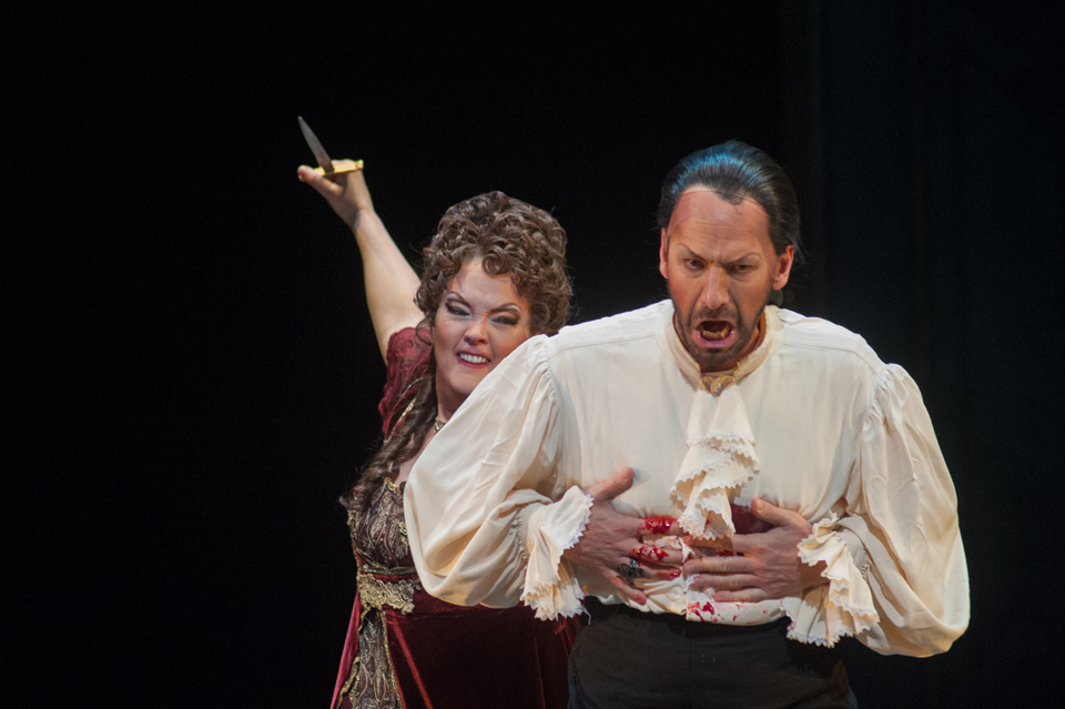 AL Tosca 2014 Mardi Byers as Tosca and Wayne Tigges as Scarpia Photo by Mark Matson-1