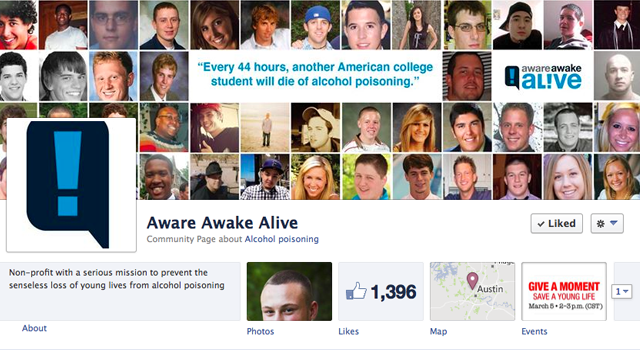 Aware Awake Alive facebook page