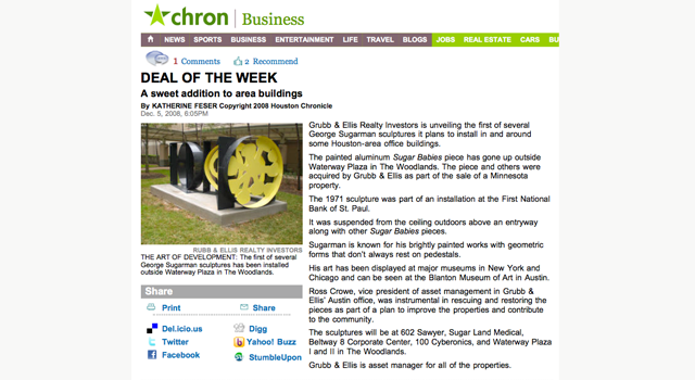 Deal of the Week Chron Business article