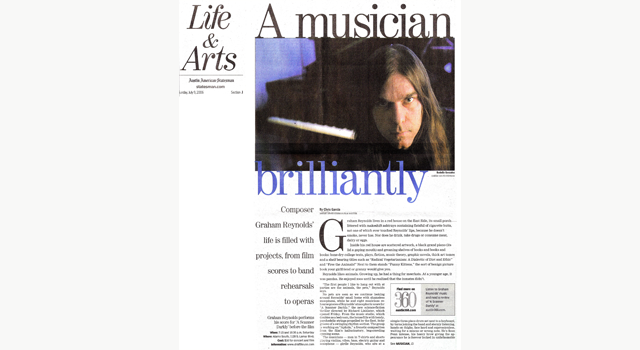 Reynolds Life and Arts article