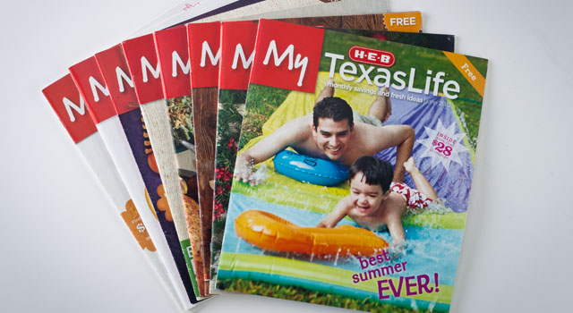 My HEB Texas LIfe magazines