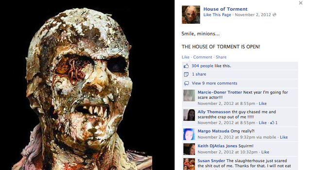 house of torment facebook post