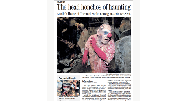 Nations Scariest clipping of house of torment