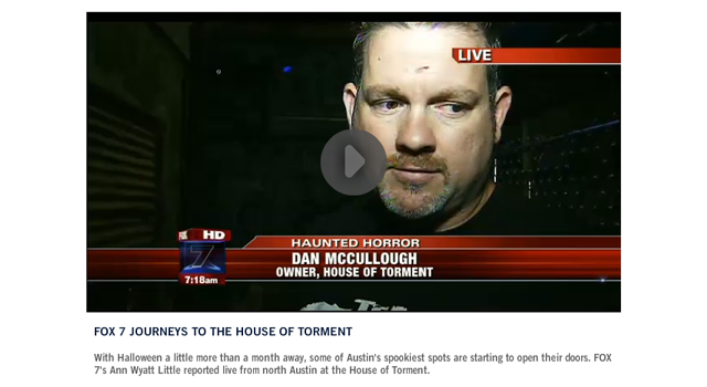 Fox 7 video photo clipping of house of torment
