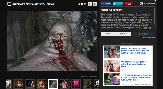 Huffington Post clipping of house of torment