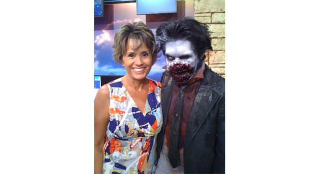 Olga Campos with Sullivan of House of Torment