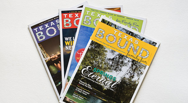 Texas Bound magazine covers